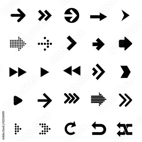Fototapeta  arrow vector icon obraz na płótnie