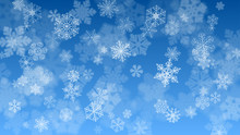 Christmas Background Of Falling Snowflakes