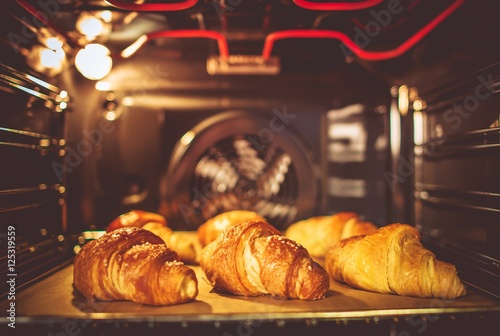 Fotografie, Obraz  Baking Buttery Croissants
