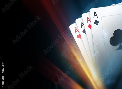 Poker Cards Background плакат