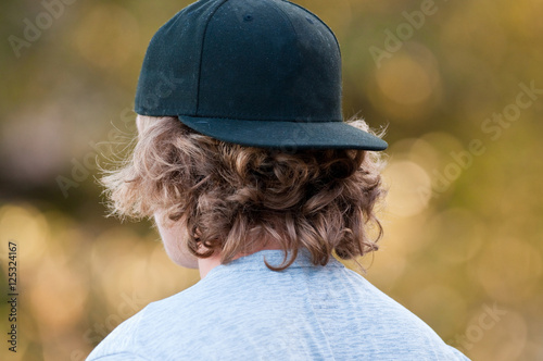 Teen with backwards hat Canvas Print