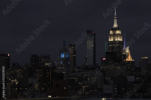 Plagát  New York City Skyline at night