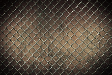 Seamless Tileable Chain Link Fence Wall In Background.