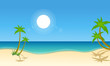 Vector illustration of beach scenery