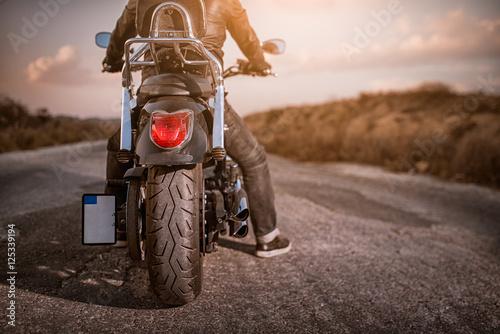 Deurstickers Fiets Motorbike Rider