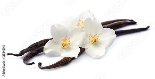 Cuadros en Lienzo Vanilla sticks with flowers