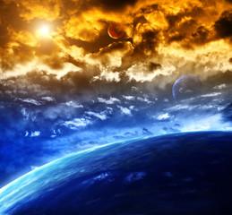 Fototapeta zachmurzony kosmos