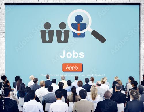 Jobs Hiring Occupation Recruitment Work Careers Concept