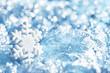 Snowflake Blue Snow Flake Decoration, Winter Lights Background