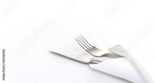 Messer und Gabel in Serviette eingehüllt, Panorama
