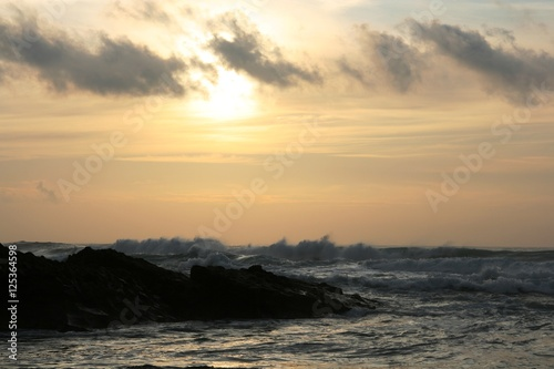 sea sunset Canvas Print