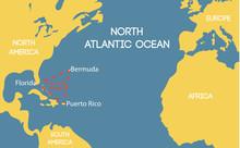 Vector Map Of The Bermuda Tria...