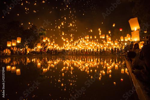 Fotografie, Obraz  Yipeng festival in Chiangmai, Thailand.