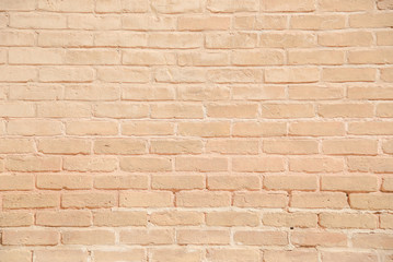 Beige grunge brick wall texture background