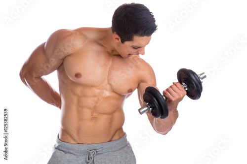 Fotografia  Bodybuilder Bodybuilding Muskeln Body Building Training Bizeps H