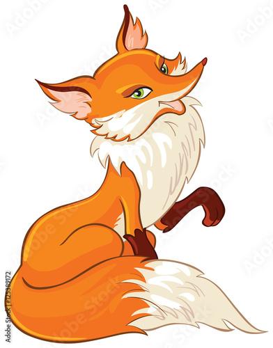 Valokuva  Very cute fox cartoon