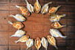 The fish on the table, Kitchenware on the wood, wood background, Thailand food. spices on the wood, spices thailand, Food spices,top view,spices,various,