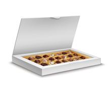 White Box Of Chocolates Isolat...