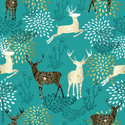 Tapety dekoracyjne  boze-narodzenie-wzor-dekoracji-jelenia-tla