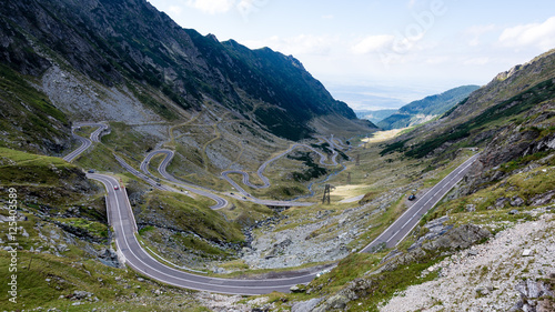 Foto op Canvas Lavendel View to the carpathian mountains war road transfagarasan