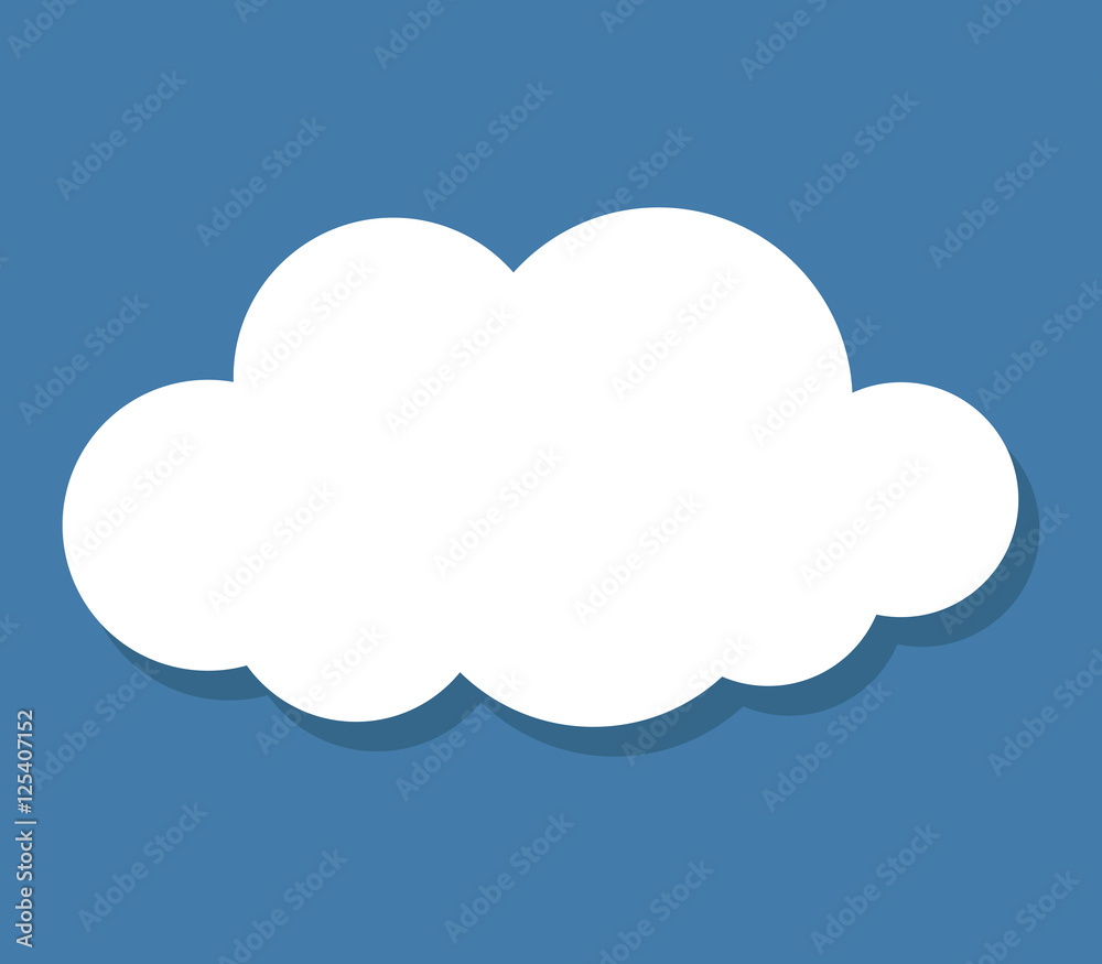 Fototapeta cloud icon with shadow
