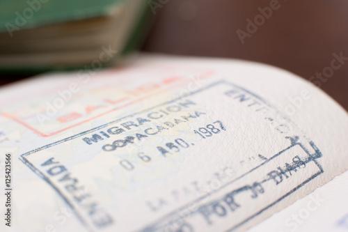 Poster Kranten Copacabana airport brazilian passport visa