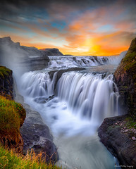 Panel Szklany PodświetlaneGulfoss Falls, Iceland