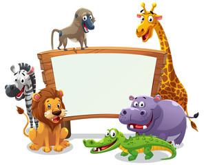 Safari animals board