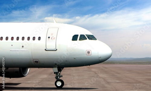 Airplane nose from side view Wallpaper Mural
