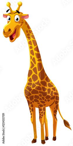 Fototapeta premium Styl kreskówki żyrafa