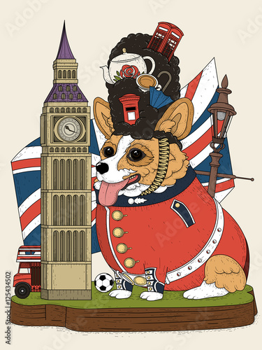 Photo  corgi and british elements