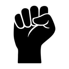 Raised Fist - Symbol Of Victor...