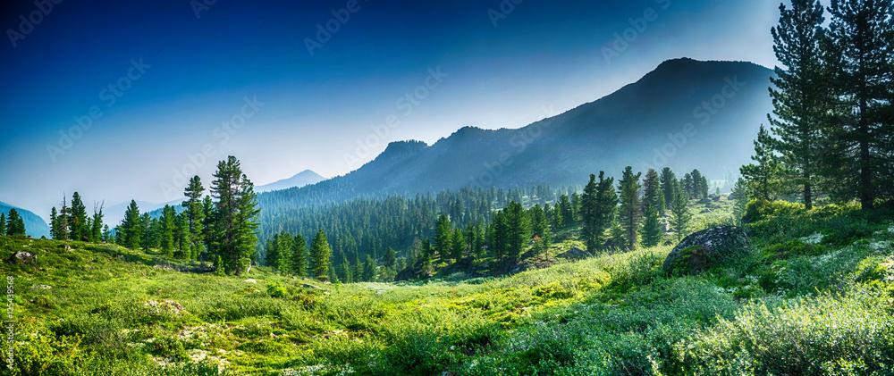 Fototapety, obrazy: mountain range Chamar-Daban, Siberia