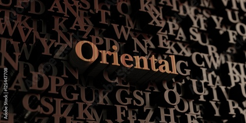 Fotografie, Obraz  Oriental - Wooden 3D rendered letters/message