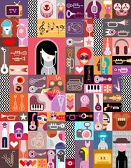 Tapeta Art Collage / Art Composition