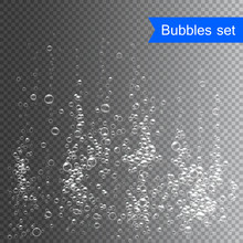 Bubbles Under Water Vector Ill...