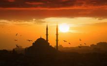 Glowing Sunset In Istanbul, Tu...