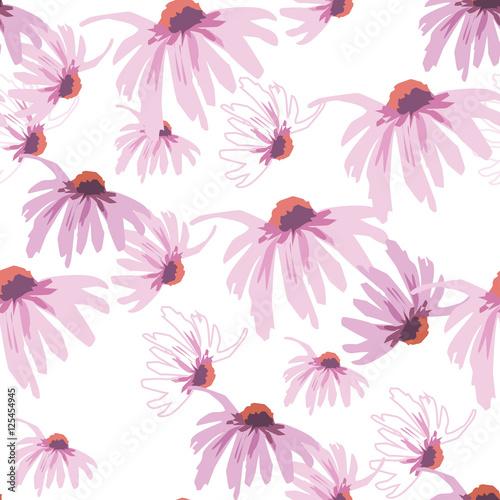 echinacea seamless pattern Wall mural