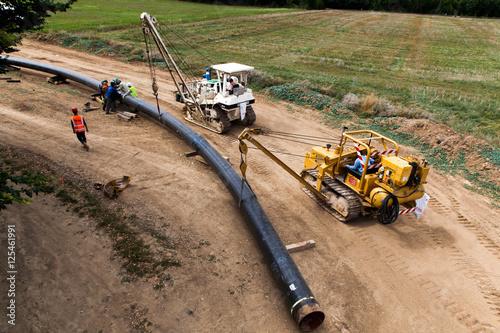 Fotografiet  Pose de pipeline - France