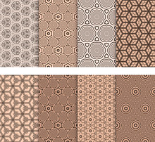 Set Of Seamless Geometric Patt...