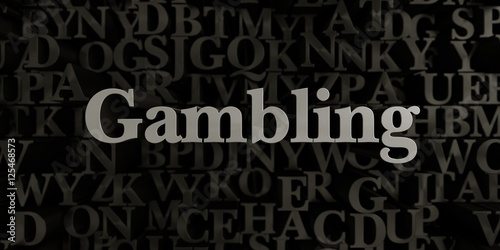 Gambling - Stock image of 3D rendered metallic typeset headline illustration плакат