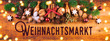 Leinwanddruck Bild - Weihnachtsmarkt  -  Weihnachtsdekoration