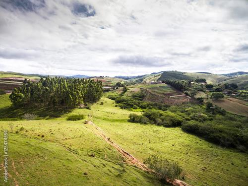 Fotografija  Aerial View of Farm - Brazilian Countryside