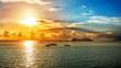canvas print picture - Traumhafter Sonnenuntergang an der Adria bei Dubrovnik
