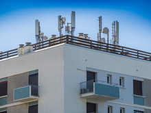 Mobile Antennas On The Roof Of...