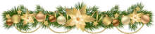 Christmas Garlands With Fir Branches