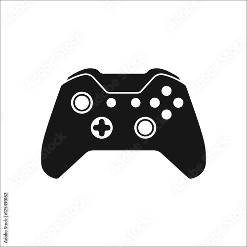 Game Controller Or Gamepad Symbol Silhouette Icon On Background