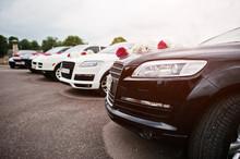 Wedding Cortege Of Five Cars