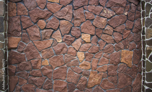 In de dag Stenen Traditional Stone Brick Wall made of fragment stones