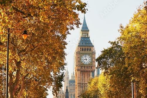 Foto op Plexiglas Londen Big Ben in sunny autumn day